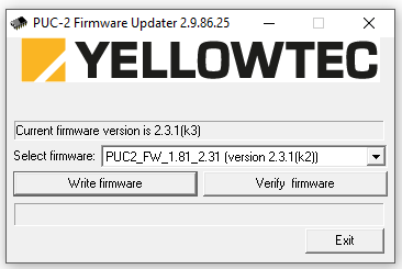 installation du firmware Yellowtec