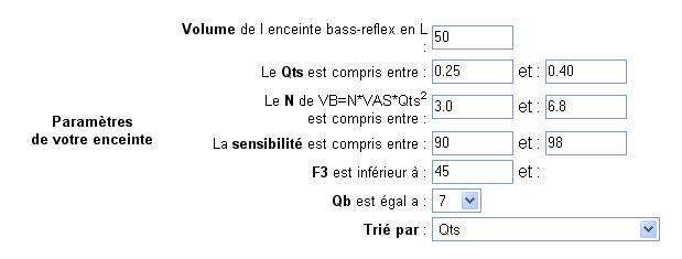 Le bass reflex - Calcul volume litre ...