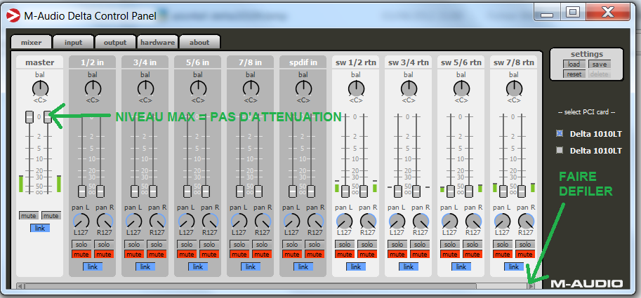 Configuration MIXER (1)